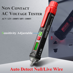 HT100E Digital Voltmeter Intelligent Pen Alarm Voltage Detector Meter Non-contact AC Voltmeter Tester Auto Tachometer(China)