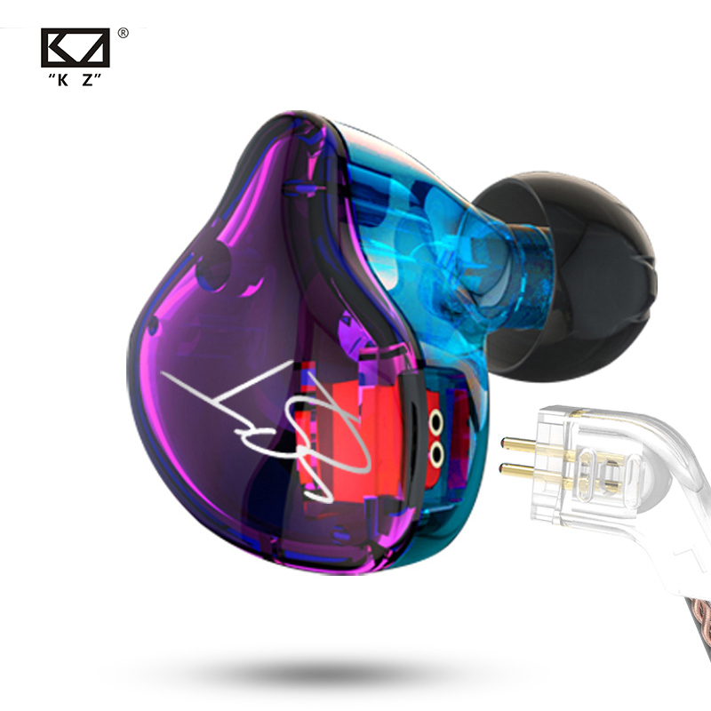 KZ ZST Bluetooth Earphones 1DD 1BA Driver Dynamic  amp  Armature in Ear Monitors Noise Isolating HiFi Music Sports Earbuds Headset