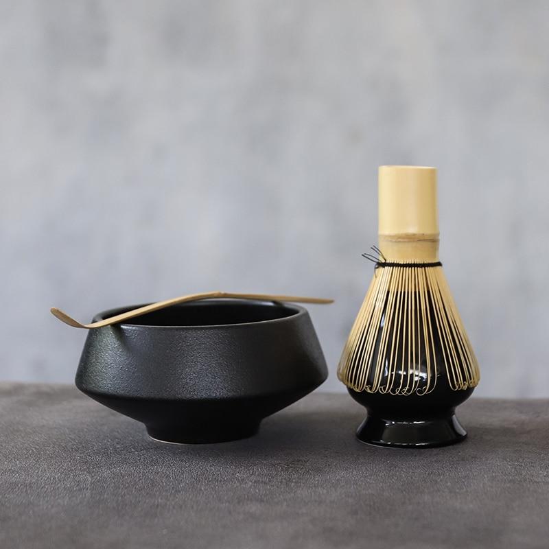 LUWU traditionellen keramik matcha sets mit bambus schneebesen ceremic matcha schüssel schneebesen halter tee-sets