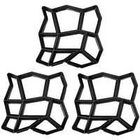 3 Pack Unregelmäßigen DIY Pflaster Form Spaziergang Maker Pfad Maker Ziegel Form Beton Form Pathmate Stepping Stein Formen für Garten, cour