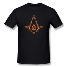 Assassins Creed Sigh print casual mens o-neck tee shirt homme and fashion 100% Cotton Hip Hop Streetwaear T-Shirt