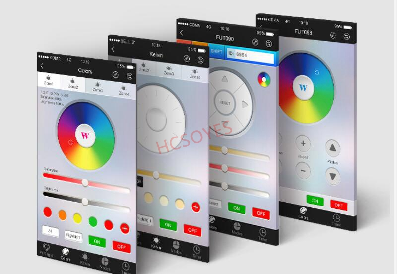 Image 2 - Milight wifi ibox iBox2 2.4GHZ Wireless Dimmer wifi led Bulb controller smart light rgb IOS Andriod APP for RGBW/RGB strip-in RGB Controlers from Lights & Lighting