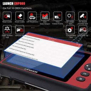Image 3 - LAUNCH X431 CRP909 Obd2 автомобильный диагностический инструмент Wifi полная система авто ABS SAS DPF EPB сброс масла Obd 2 Автомобильный сканер PK MK808
