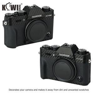 Image 2 - Kiwi Anti Scratch Protetor de Pele Da Tampa Do Corpo Da Câmera Para Fujifilm Fuji X T30 3 XT30 Câmera Anti Slide Filme De Fibra De Carbono 3M Adesivo