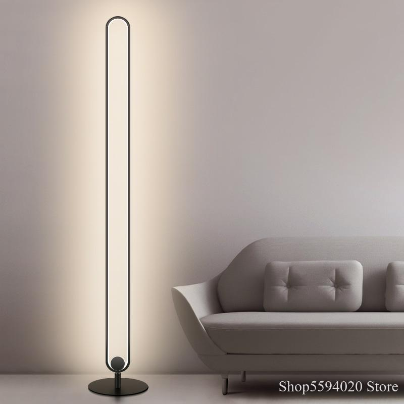 Modern Circular Floor Lamp Acrylic Lampshade Vertical Led Floor Lamp For Living Room Bedroom Standing Lamp European Floor Lamp