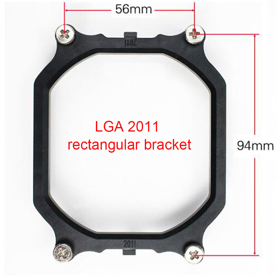 For <font><b>X79</b></font> motherboard <font><b>socket</b></font> rectangular intel LGA <font><b>2011</b></font> CPU cooler bracket <font><b>2011</b></font> CPU Holder plastic stents frame image