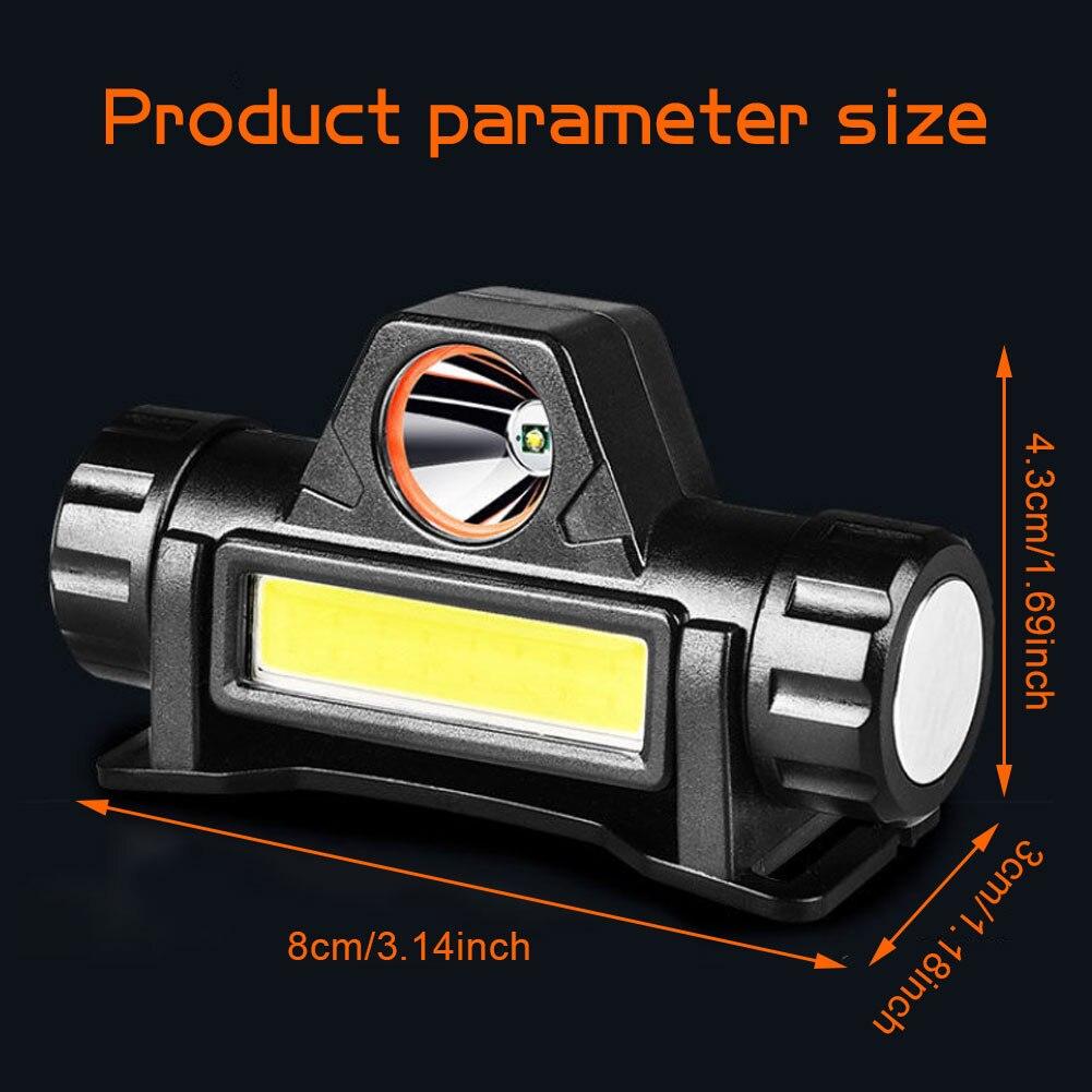 Перезаряжаемый сильный фара многофункциональный двойной свет источник супер яркий дальний выстрел водонепроницаемый фара майнер% 27s лампа