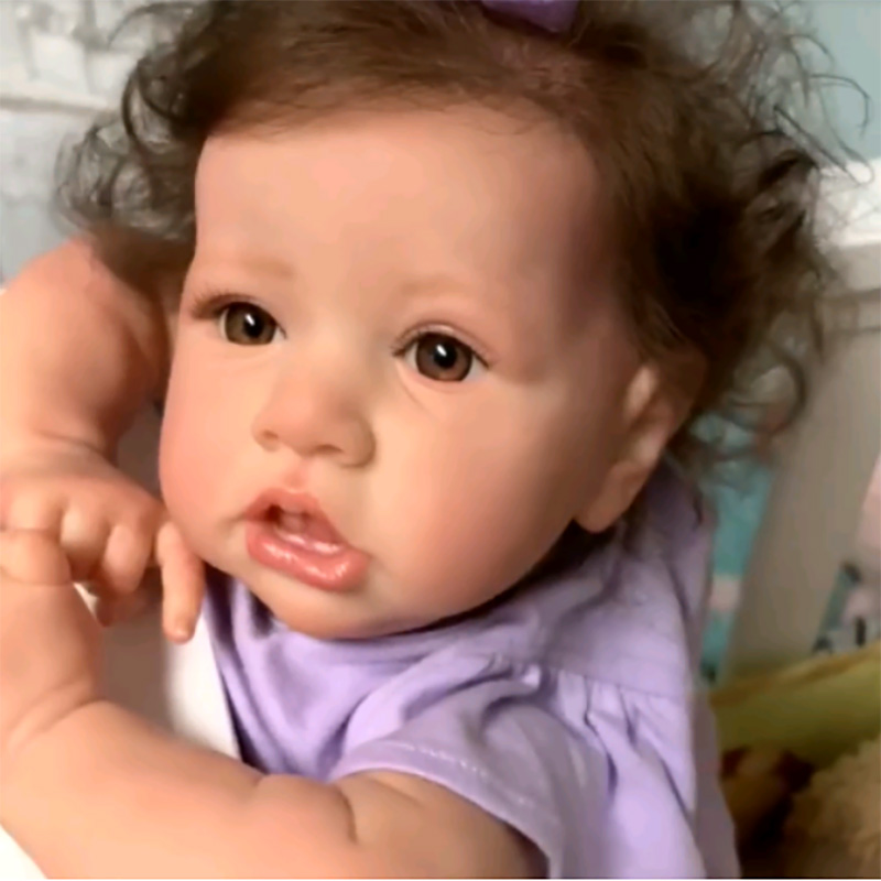 55cm Reborn Baby Doll Pouting Dolls Full Body Silicone Baby Realistic Reborn Toddler Cheap Reborn Dolls For Newborn Babies Gift