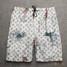 Пляжные шорты, мужские шорты, быстросохнущие Бермуды, мужские брендовые шорты De Bain Homme,, высокое качество