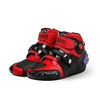 Unisex Motocross Boots Microfiber Racing Shoes Anticollision Anti skid Motorcycle Boot Protective Motorbike Equipment All Season