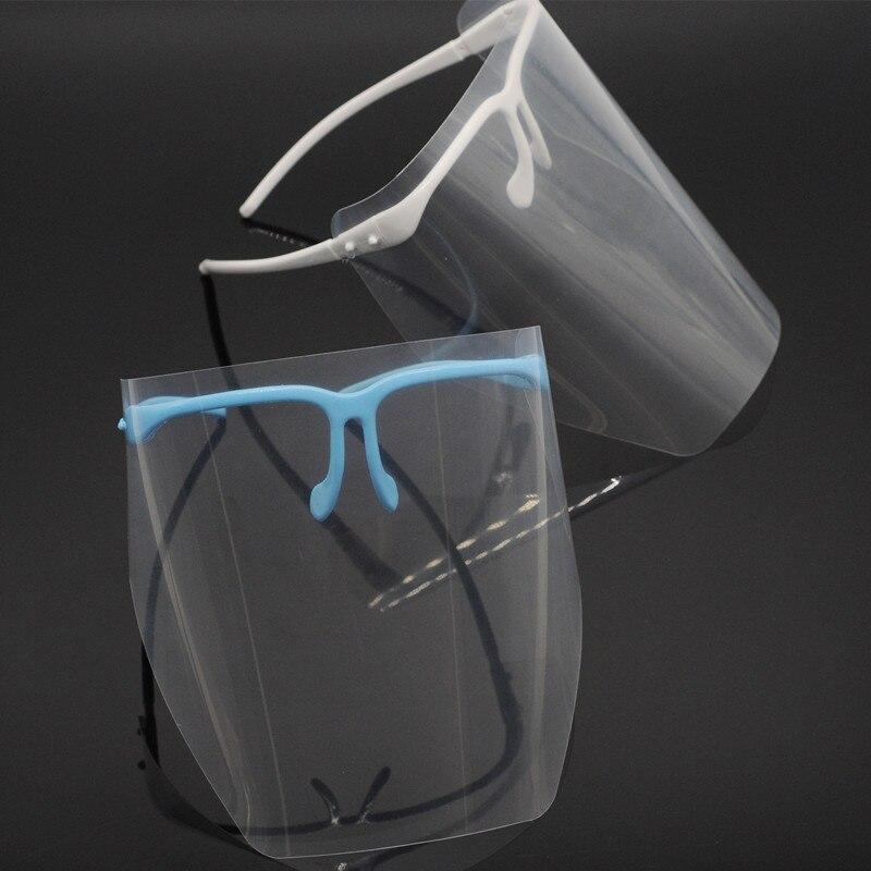 Dentist Lab Item Adjustable Full Face Shield & Clear Detachable Visor Anti-fog For Dental Clinic