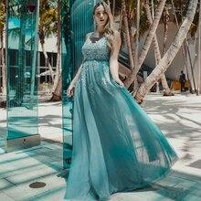 Szata De Soiree kiedykolwiek ładna koronka frezowanie Sexy długie suknie wieczorowe Plus rozmiar bankiet ślubny elegancka długość podłogi na imprezę bal Dress