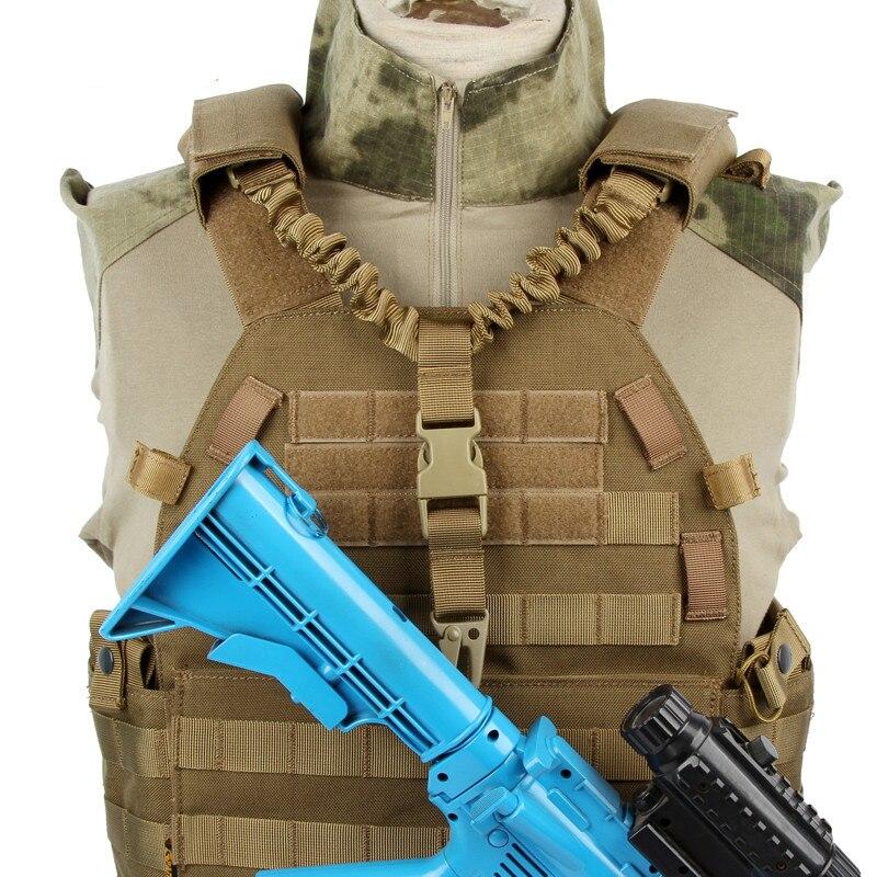 SPANKER Quick Release Bungee Rifle Shoulder Sling Plate Carrier Tactical Gun Belt w/ Vest Chest Rig Backpack Single Rifle Sling Велюр