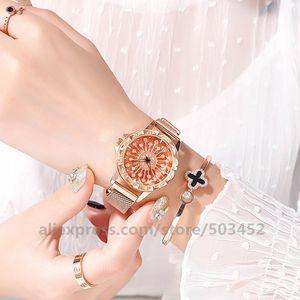 Image 5 - 100 adet/grup 103020 sıcak satış hiçbir Logo manyetik izle toptan kadınlar kız Lady saat kadınlar için moda bayan izle