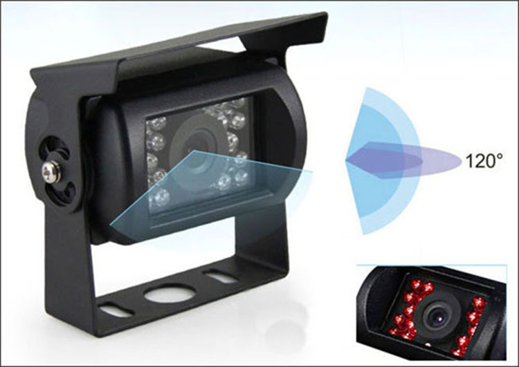 Truck Bus High-definition Waterproof Night Vision Infrared Camera CCD 12V24V Wide Voltage PZ470