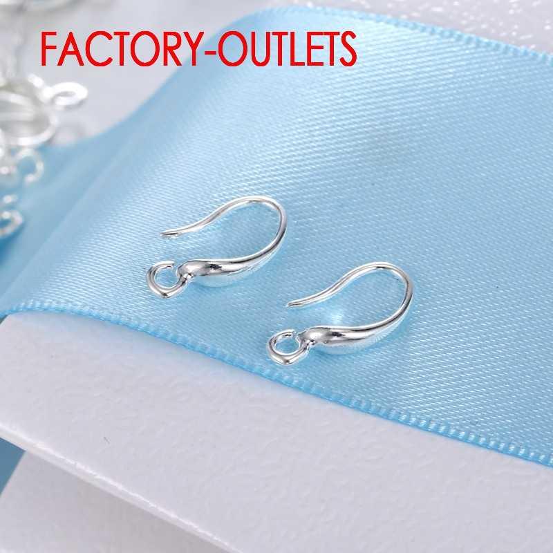 Gorąca sprzedaż 10 sztuk dużo moda elementy biżuterii 925 srebro kolczyki akcesoria dla kolczyki damskie haki montażu