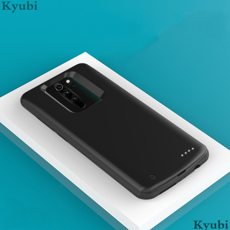 6500mah External Battery Charger Case For Xiaomi Redmi Note 8 Pro Portable Wireless Charging For Xiaomi Redmi Note 8 Pro 2 In 1
