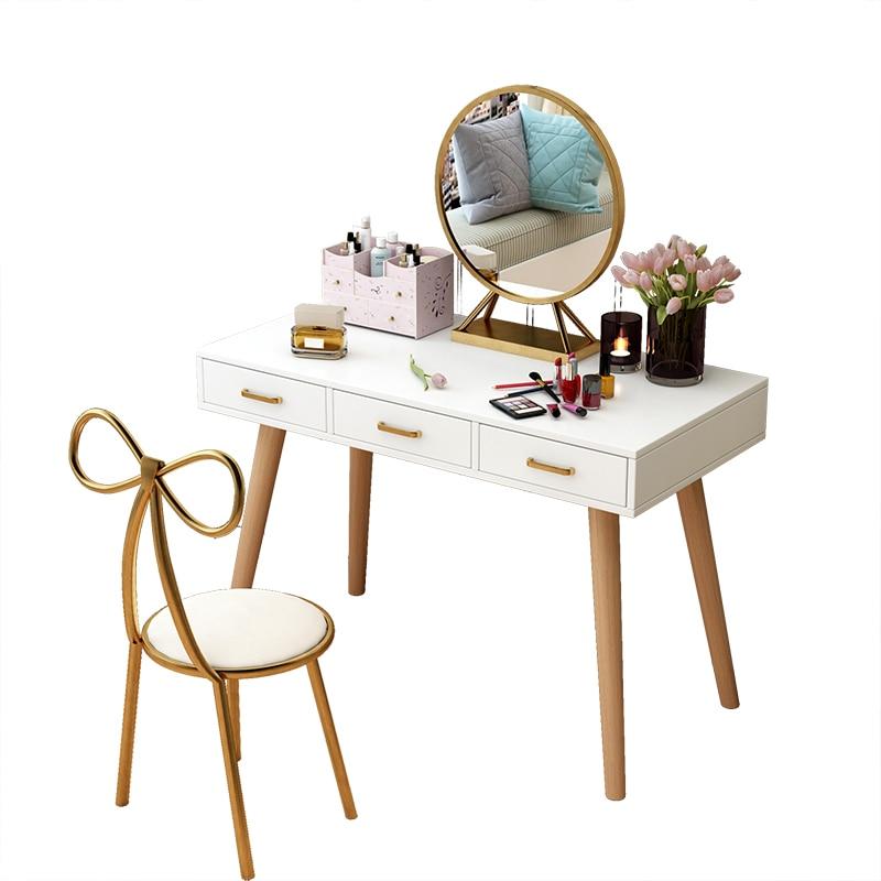 Nordic Creative Butterfly Chair Simple Girl Heart Theme Restaurant Chair Beauty Makeup Chair Dressing Golden Chair Stool