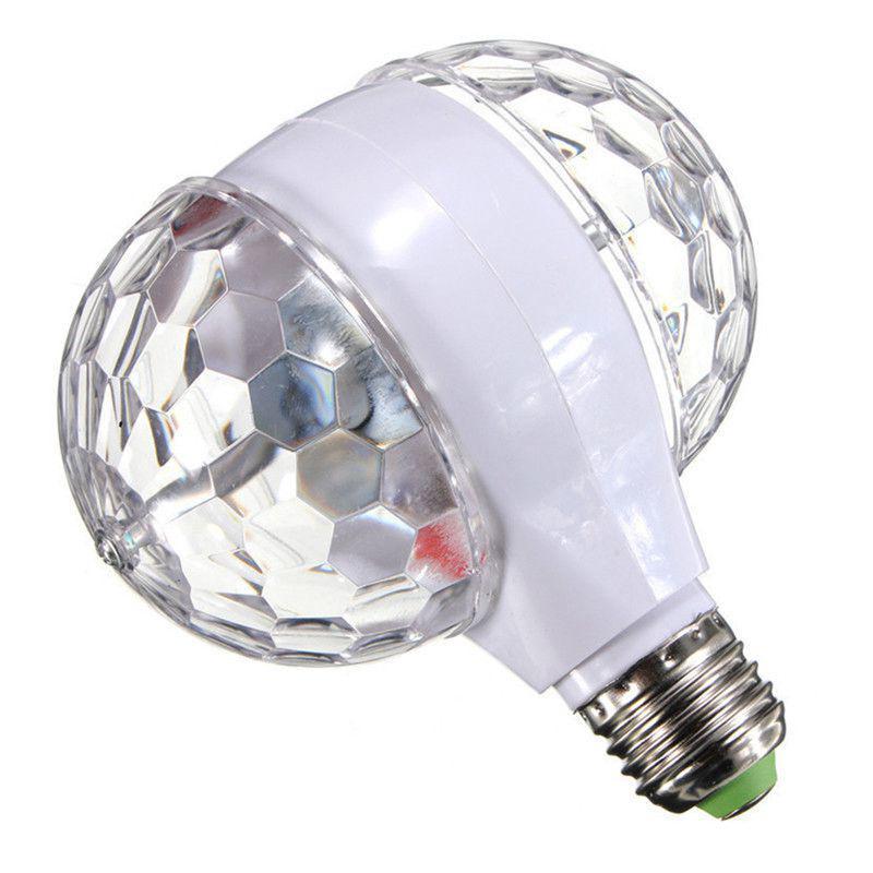 Dj Luz Coloridas Girando Lâmpada LED Fase Double-sided enseada Cristal Mágico Efeito De Bola de Luz para Xmas Party Bar DJ Luz de Discoteca