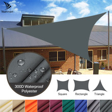 Canopy Awning Sail SUN-SHELTER Backyard Triangle Outdoor for 98%Uv-Block Facility Activities