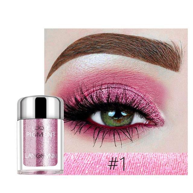 LANGMANNI Glitter Eye Shadow Metal Loose Powder Waterproof Flash Pigment Color Eye Shadow Powder Makeup Cosmetics TSLM1 5