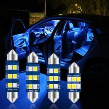 1 шт. C10W Led C5W Led Canbus Festoon Внутреннее освещение 31 мм 36 мм 39 мм 41 мм Автомобильная купольная лампа освещение для номерного знака белый синий