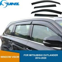 רכב סטיילינג אקריליק חלון רוח ההטיה Visor גשם שמש משמר Vent עבור מיצובישי הנכרי 2014 2015 2016 2017 2018 SUNZ