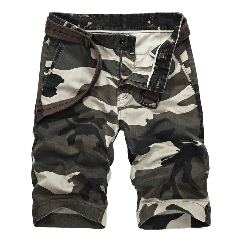 2019 Summer New Style Men's Camouflage Casual Shorts Men's Workwear Shorts Large Size 100% Cotton Shorts