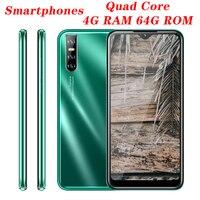 Teléfono Inteligente A30, versión Global, 3G, 4GB RAM, 64 GB ROM, pantalla gota de agua de 6,26 pulgadas, Android, cámara de 13MP, identificación facial