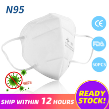 50Pcs N95 Mask Anti Virus Face Mask Respirator ffp2 Mouth Mask Antivirus KN95 Mask ffp2 Respirator not ffp3 Respirator