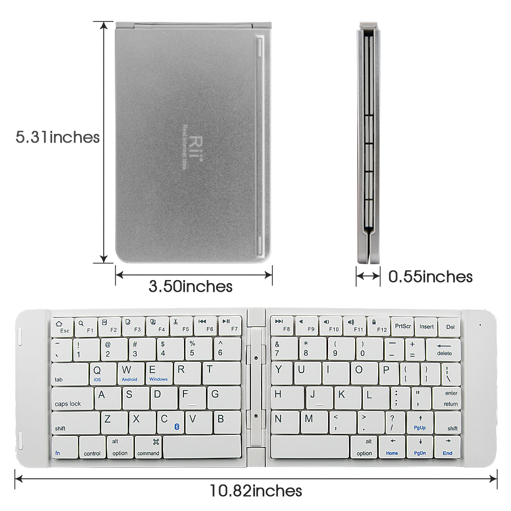 Image 2 - Rii K09 Portable Leather folding Mini Bluetooth Spanish Keyboard Foldable  for iphone,android phone,Tablet,ipad,PCKeyboards   -