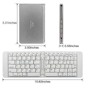 Image 2 - Rii K09 przenośna skórzana składana Mini Bluetooth hiszpańska klawiatura składana na iphonea, telefon z androidem, Tablet,ipad,PC