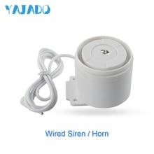 YAJADO 110dB Mini Wired Siren Alarm Speaker For Home Alarm System Security Burglar Accessories Alarm Strobe Siren Horn 1 x hand crank operated emergency alarm siren sound rating 110db abs