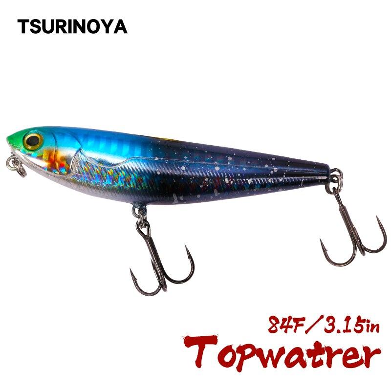 TSURINOYA Top Water Floating Pencil Hard Fishing Lure DW12 85mm 10g Long Casting Wobblera Swimbait Pike Bass Snakehead Bait