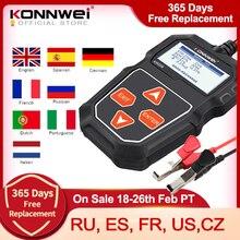 KONNWEI KW208 araba pil test cihazı 12 V 100 2000CCA marş şarj devre test cihazı akü analizörü 12 volt pil araçları