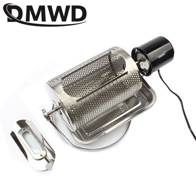 DMWD Home use coffee bean roaster machine stainless steel coffee beans roasting machine peanuts nuts 110V 220V 40w EU US BS plug(China)