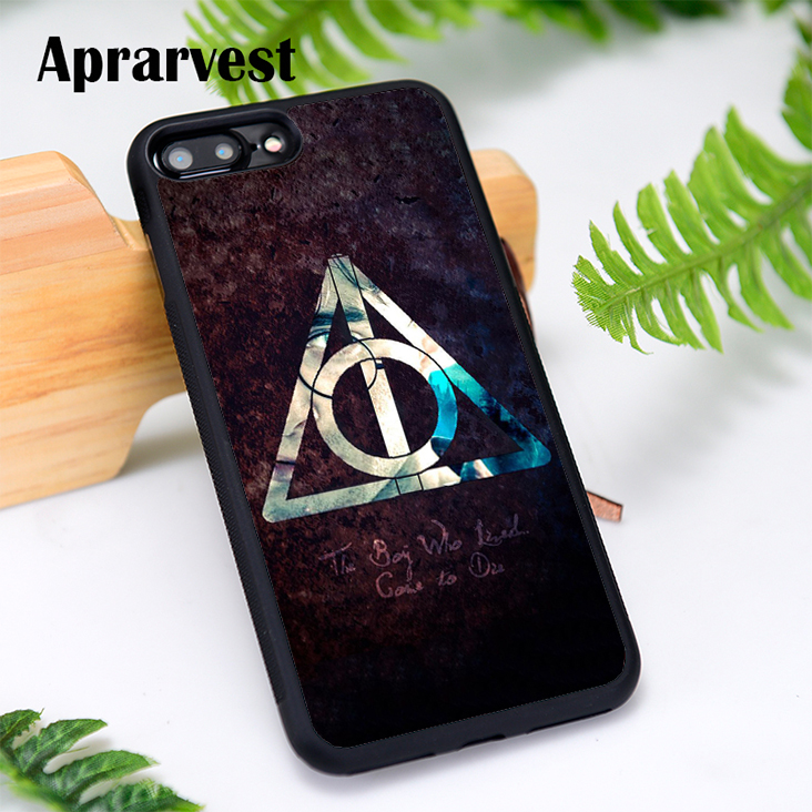 Aprarvest Silicone Phone <font><b>Case</b></font> Cover For <font><b>iPhone</b></font> 6 6S 7 <font><b>8</b></font> Plus 5 5S SE X XS MAX XR Always Deathly Hallows <font><b>Harry</b></font> <font><b>Potter</b></font> image