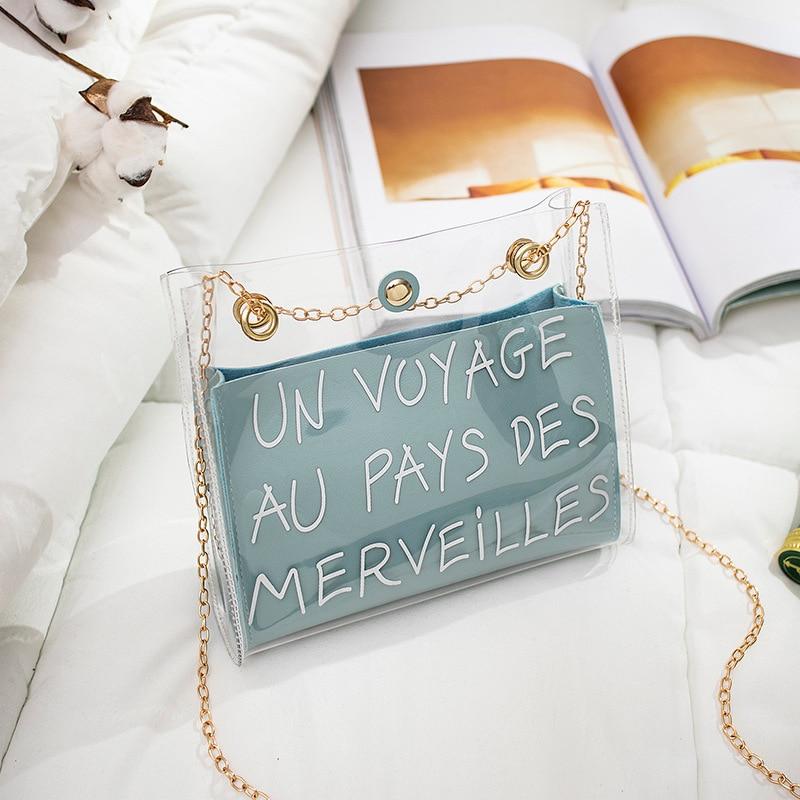 Bag For Women 2020 New Shoulder Bag Small Square Shoulder Bag Messenger European Style Wild Ins Jelly Bag Hand Bag
