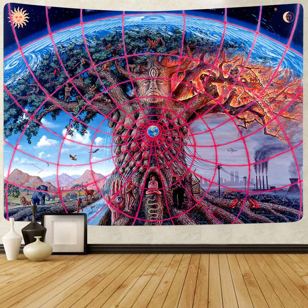 Simsant Tool Band Poster Tapestry Tree of Life Wall Hanging Tapestries for Living Room Bedroom Home Blanket Beach Towel Decor