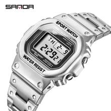 SANDA Sport Mens Watches Top Brand Luxury Casual Watch Stain