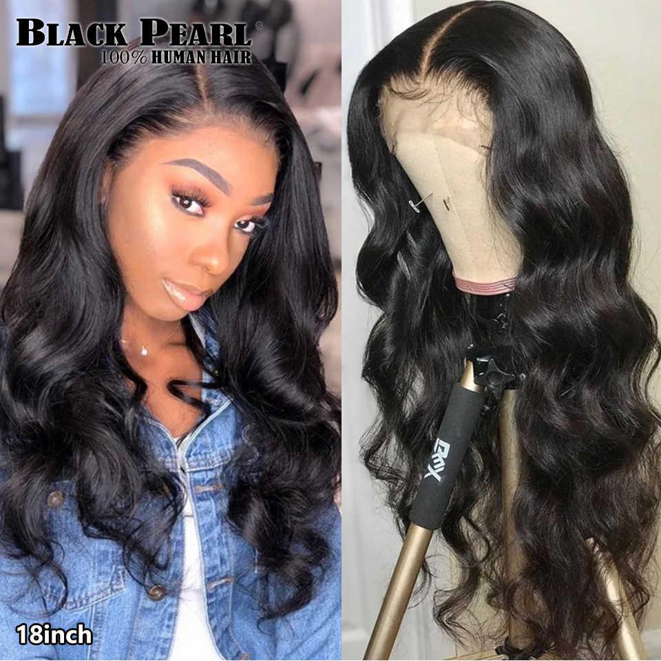 Preto pérola onda do corpo brasileiro perucas de cabelo humano 30 Polegada 13x4 peruca dianteira do laço 180 densidade 360 peruca do laço para mulher
