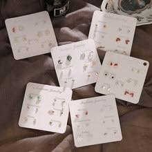 EN-Conjunto de Mini pendientes con forma de delfín para mujer, aretes de perlas de cristal con forma de corazón, accesorios de joyería 2020