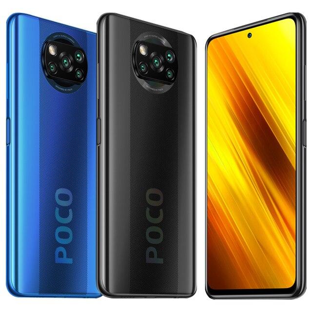 Global Version POCO X3 NFC 6GB RAM 64GB ROM Mobile Phone Snapdragon 732G 64MP Quad Camera 6.67 2