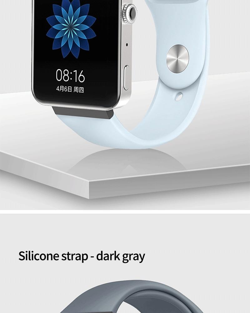 Мягкий силиконовый ремешок для часов для xiaomi smart watch, новинка, сменный ремешок для mi watch, резиновый ремешок для часов, аксессуары