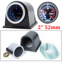 "2 ""52 Mm LED Asap Wajah Panggil Mobil Auto Bar Turbo Boost Pengukur Meter dengan Sensor dan Holder270 Gelar sapu Mobil Bar Turbo Meter(China)"