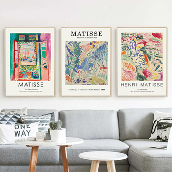 Henri Matisse Retro Posters And Prints Abstract Landscape Wall Art Vintage Painting Pictures For Living Room Home Decor image