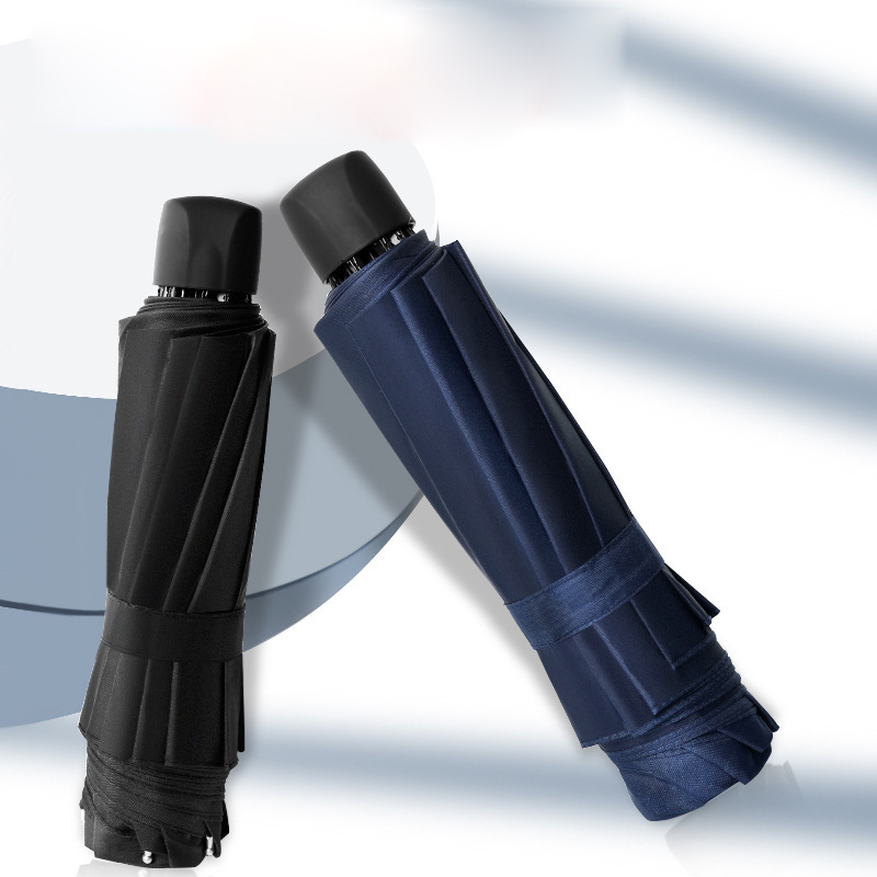 Портативный складной зонт, Ветрозащитный Зонт с короткими ручками, мини-зонт с защитой от ультрафиолета, складной компактный зонт, 3 складно...