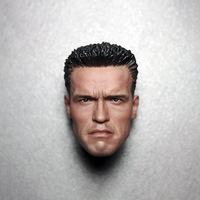 1/6 Scale Arnold T800 Tactical Camouflage Version Male Man Head Sculpt Head Carving Headplay for 12 Action Figure Body Toys