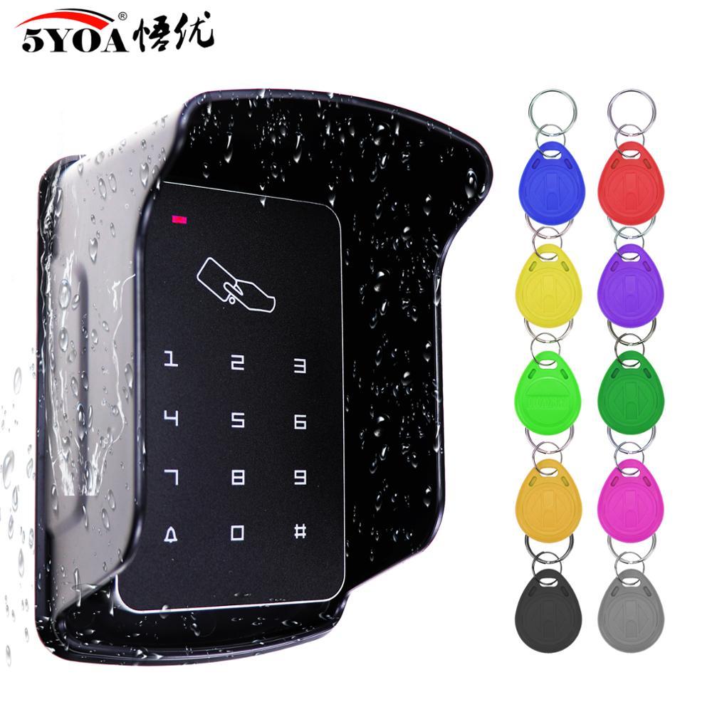 Система клавиатуры RFID для контроля доступа, автономная клавиатура, водонепроницаемый непромокаемый чехол, наружная карта замка двери, откр...
