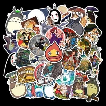 50PCS Miyazaki Hayao Anime Movie Cartoon Stickers Skateboard Guitar Motorcycle Laptop Luggage Joke Decal Sticker Classic Toy Kid 50pcs newly movie it chapter two joker anime sticker cartoon for skateboard guitar laptop luggage furnitur decal toy stickers